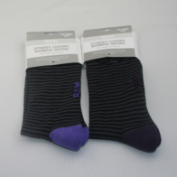 Sock Tins Him : Grey & Purple Stripe Socks